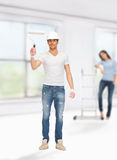 Man and woman renovating their home Royalty Free Stock Photography