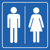 Man and Woman restroom sign Stock Images
