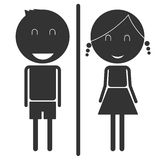 Man and Woman Restroom Sign Stock Photos