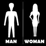 Man and Woman  Restroom Symbol Icon. Vector illustration Royalty Free Stock Image