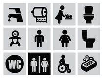 Man woman restroom Stock Photos