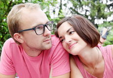 Man and Woman in Romantic Dreams Royalty Free Stock Photo