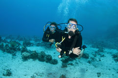 Man and woman scuba diver Royalty Free Stock Images