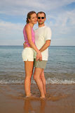 Man and woman by the sea Royalty Free Stock Image