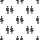 Man and woman,  seamless pattern Royalty Free Stock Image