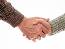 Man and woman shake hands Royalty Free Stock Photo