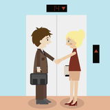 Man and woman shaking hands icon great for any use. Vector EPS10. Stock Photography