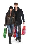 The man and the woman - shopping Stock Photography