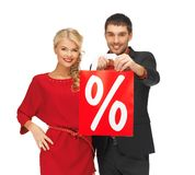 Man and woman with shopping bag Stock Photo