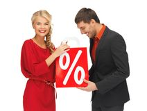 Man and woman with shopping bag Royalty Free Stock Photography