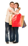 Man and woman with shopping bag Stock Image