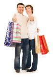 Man and woman with shopping bag Royalty Free Stock Images