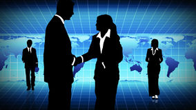 Man and woman showing  teamwork in busines concept. Man and woman showing  teamwork in business concept Stock Image