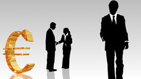 Man and woman showing  teamwork in busines concept Stock Images