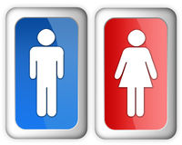 Man woman sign Royalty Free Stock Photography