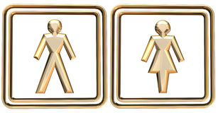 Man & woman Sign royalty free illustration
