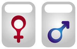 Man and woman sign Royalty Free Stock Photos