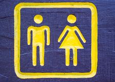 Man & Woman sign Royalty Free Stock Images