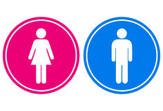 Man and woman sign Stock Image