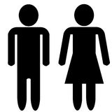 Man and woman silhouette - blank faces Stock Images
