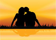 Man and woman siting Royalty Free Stock Photos
