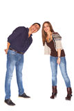 Man and woman smiling Royalty Free Stock Photography