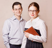 Man and woman standing side my side Royalty Free Stock Images