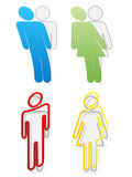 Man and woman sticker Stock Image