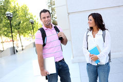 Man and Woman Students Royalty Free Stock Image