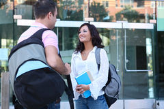 Man and Woman students Royalty Free Stock Photos