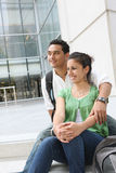 Man and Woman Students at College Stock Image
