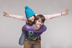 Man and woman in the Studio royalty free stock image