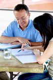Man and woman studying Royalty Free Stock Photos