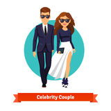 Man and woman stylish hollywood stars Royalty Free Stock Photography
