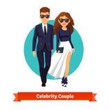 Man and woman stylish hollywood stars Royalty Free Stock Photography