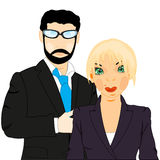 Man and woman in suit Royalty Free Stock Photo