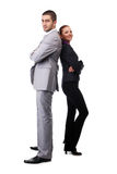 Man and woman in suits Royalty Free Stock Images