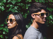 Man and woman with sunglasses Stock Image