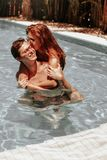 Man and Woman Swimming Royalty Free Stock Images