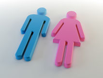 Man and woman symbol Royalty Free Stock Image