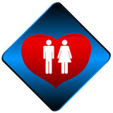 Man and woman symbol Stock Images