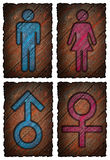 Man and woman symbol royalty free illustration