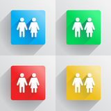 Man and woman symbol in flat style Stock Image
