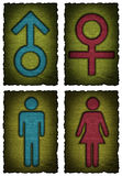 Man woman symbol isolated Stock Photo