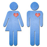 Man and woman symbol paper art Stock Photo