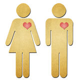 Man and woman symbol recycle paper Royalty Free Stock Photo