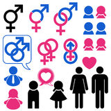 Man and woman symbol set relationship