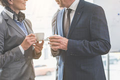 Man and woman are talking Stock Image