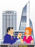 Man and woman are teamwork Royalty Free Stock Image