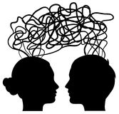 Man and woman thinking, idea concept Stock Images